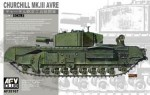 Churchill Mk. III AVRE , skala 1:35, AFV-CLUB 35167