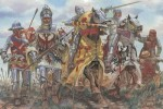 Figurki, 100's Years War: French knights and warriors, skala 1:32, Italeri 6901