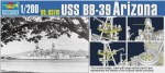 USS Arizona BB-39, skala 1:200, TRUMPETER 03701