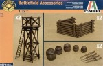 Akcesoria pola bitwy, Battelfield Accessories, skala 1:32, Italeri 6870