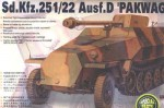 German Sd Kfz 251/22 7.5cm Pakwagen, skala 1:35, AFV-CLUB 35083