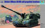 British 155mm AS-90 self-propelled howitzer, skala 1:35, TRUMPETER 00324
