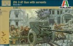 ZIS 3 AT Gun with servants, skala 1:32, Italeri 6880