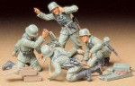 Figurki, German Infantry Mortar Team Set, skala 1:35, Tamiya 35193