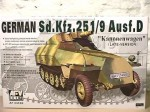 German Sd.Kfz.251/9 Ausf.D, skala 1:35, AFV-CLUB 35068