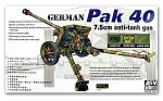 German 7.5cm Pak 40 L/46 Anti-Tank Gun, skala 1:35, AFV-CLUB 35071