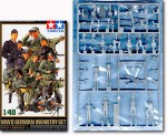 Figurki, German Infantry Team, skala 1:48, Tamiya 32512